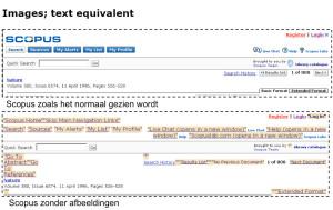 visuele weergave van alt text in Scopus