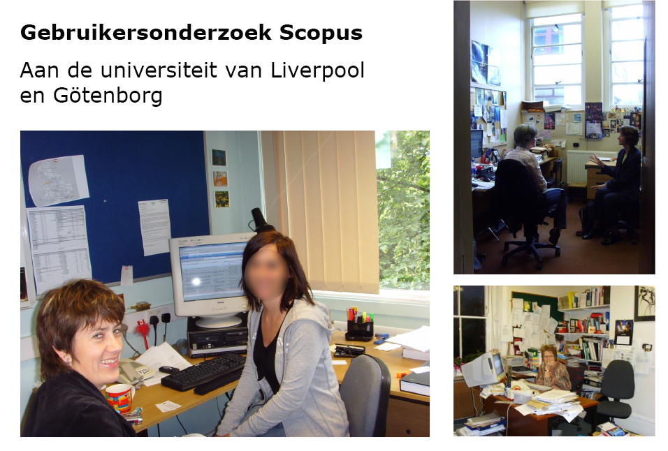 Verschillende gebruikers die deelnamen aan gebruikersonderzoek voor Scopus