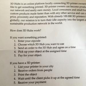 Scenario hoe de 3D hub werkt