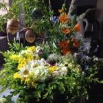Bloemstuk ter gelegenheid van oma's begrafenis